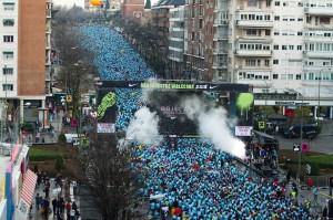 Miles de corredores se dan cita en la capital de Madrid para correr la San Silvestre