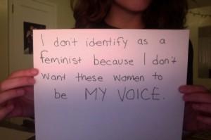 Una de las imágenes con mensaje antifeminista de la página 'Women Against Feminism'.
