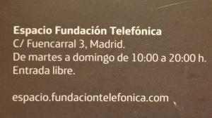 La exposición en la Fundación Telefónica