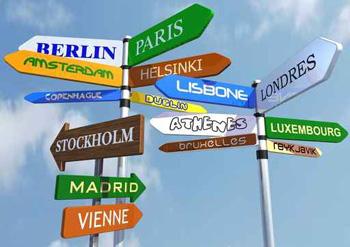 Señales de ciudades de Europa