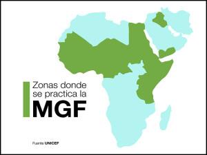 Zonas de África donde se practica la Mutilación Genital Femenina