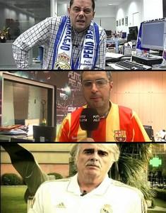 Rocero, Mascaró, Siro López camiseta Barça Madrid