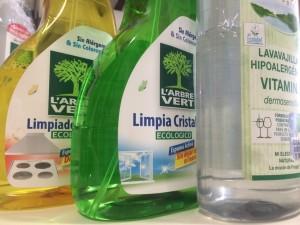 Productos de limpieza sin elementos químicos