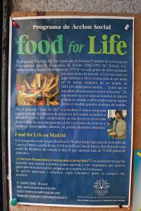 Cartel Hare Krishna del programa Food for Life