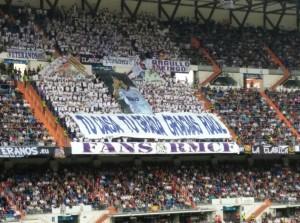 Fondo sur del Estadio Santiago Bernabéu.