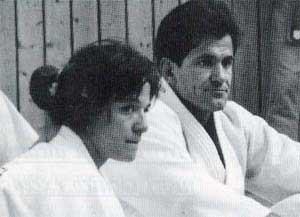 Miriam Blasco junto al que fuera su entrenador, Sergio Cardell