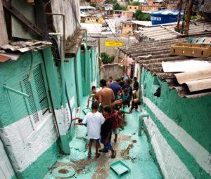 La favelas de Sao Paulo, Brasil