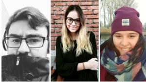Alberto Pérez, Celsa Rodríguez y Laura Beltrán, componentes de uno de los equipos de redactores que forman Variación XXI.