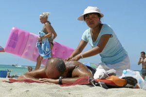 Masaje ambulante asiáticas