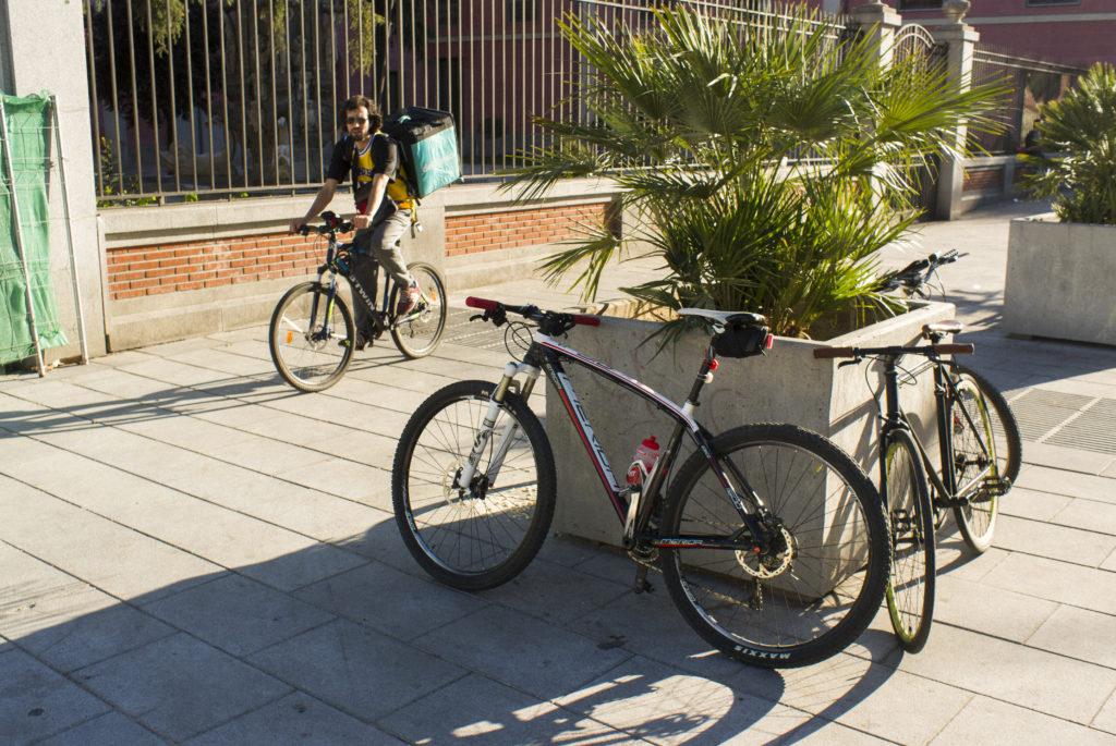 Bicicletas reparto comida domicilio