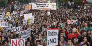 #manifestación #noreválidas #norecortes #noLOMCE #derogaciónLOMCE #estudiantes