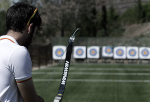 Juan Ignacio Rodríguez, flecha, arco, diana, entrenamiento