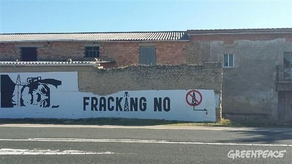 Cartel reivindicativo contra el fracking. / Greenpeace