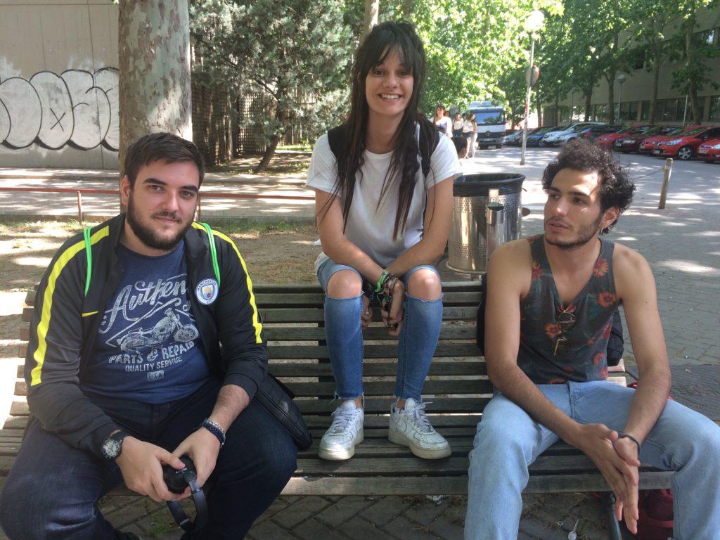 De izquierda a derecha: Rubén Guijarro, Fátima García y Carlo Felice Audrines / Variación XXI