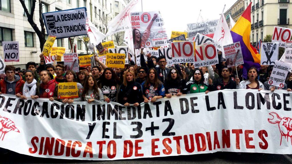 Manifestación estudiantes tasas universitarias