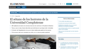 El Mundo publicó el artículo sobre los cadáveres de la UCM en el año 2014
