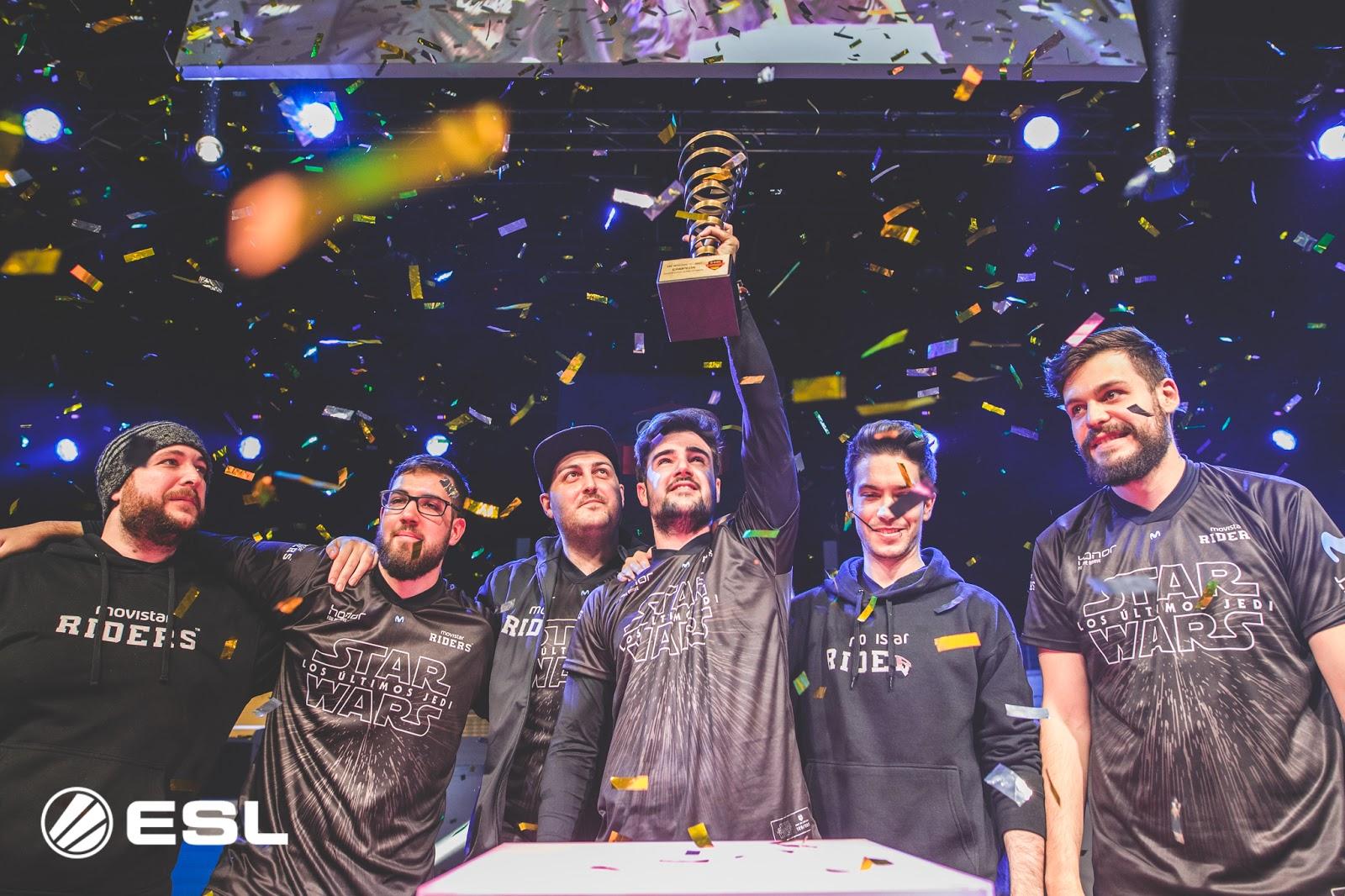 Los Movistar Riders, ganadores del ESL Masters España de CS:GO / ©ESL K. Bashkirov