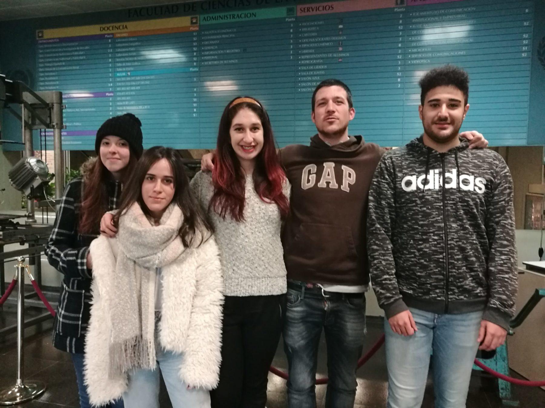 Alba Bueno, Lorena Constenla, Katherine Burgos, Fernando García y Diego Brito